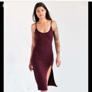 Urban Outfitters Silence+Noise Thigh Slit  Dress S